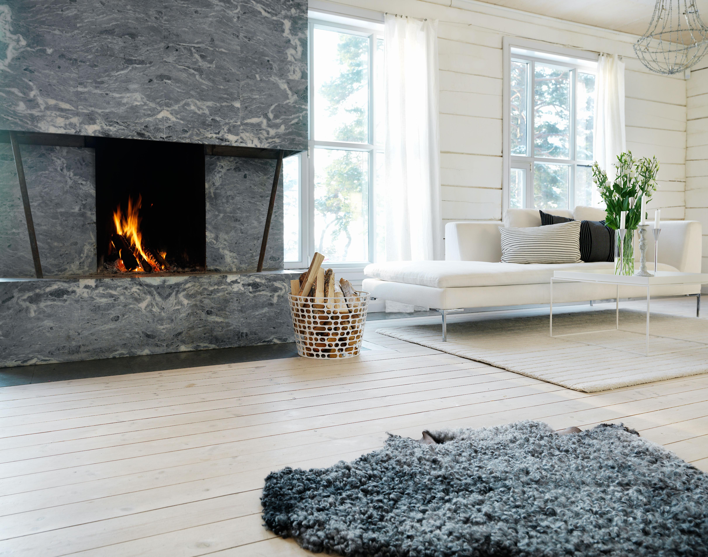 Södra Interiör vitpigmenterade golv